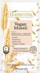 Bielenda VEGAN MUESLI Pšenica + Ovos + ľanové semienko 2v1 hydratačná maska a peeling 8g