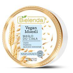 Bielenda VEGAN MUESLI Pšenica + Ovos + Kokosové mlieko hydratačné telové maslo 250ml