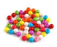 Kraftika 20g mix plastové korálky color mix ø7mm, neprůhledné, fimo