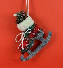 DUE ESSE božični okrasek iz blaga 1 – drsalke, 17 cm