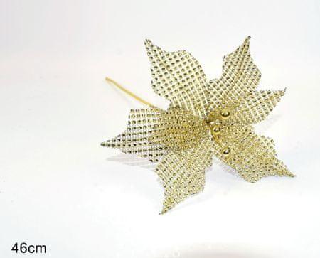 DUE ESSE božično zvezda, zlata, 46 cm