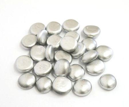 Kraftika Cyrkonie dekoracyjne szklane 100g duże srebrne (20szt)