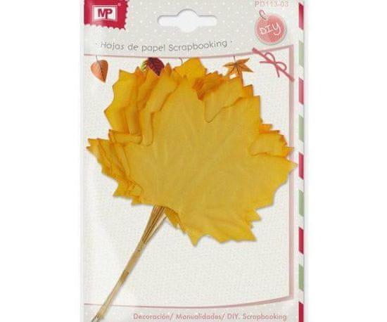 Kraftika Papírové listy javorové - žluté (12ks)