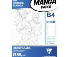 Clairefontaine Papíry na ilustraci manga bílé s rámečkem (55g/m2
