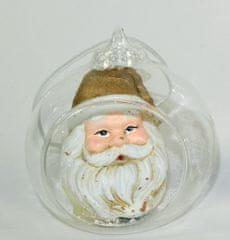 DUE ESSE szklana kula Ø 8 cm ze Świętym Mikołajem 4