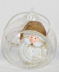 DUE ESSE szklana kula Ø 8 cm ze Świętym Mikołajem 5
