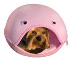 Brunbo Růžový plstěný spací pelíšek, kukaň, pelech pro malé psy
