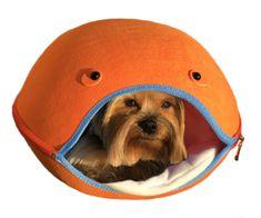 Brunbo Oranžový plstěný spací pelíšek, kukaň