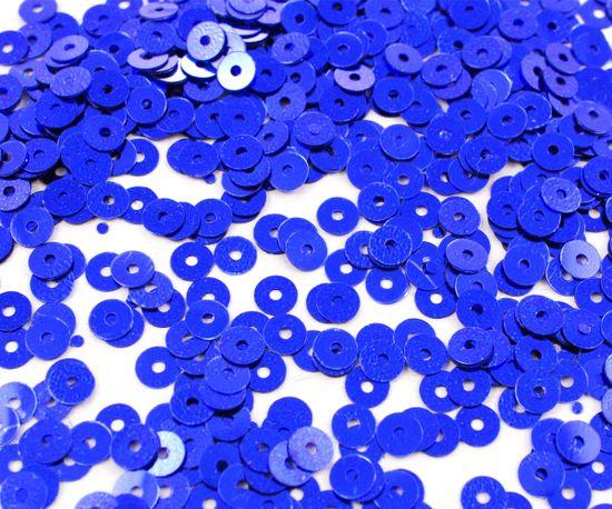 Kraftika Kulaté ploché konfety, flitry, neprůhledné, kovově modré