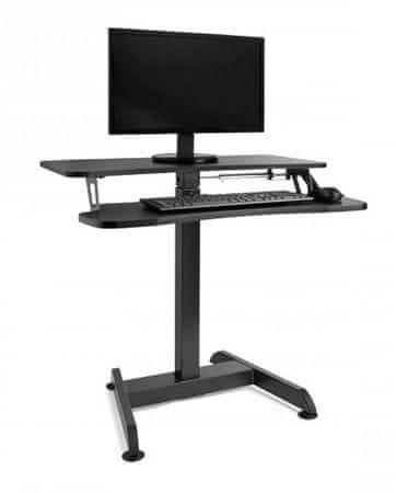 VonHaus Sit-Stand nastavljiva miza, črna (VONTV-3000168)