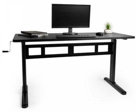 VonHaus Sit-Stand nastavljiva delovna miza, črna (VONTV-3000169)