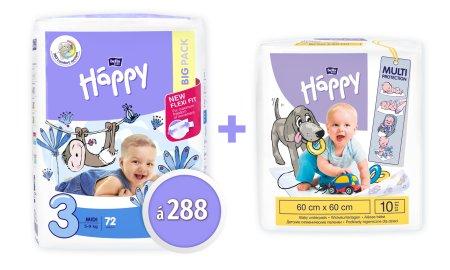 Bella Happy 3 Midi pelenka - 288 db