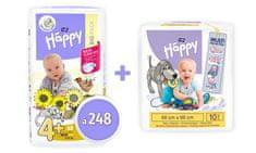 Bella Happy 4+ (Maxi Plus) Big Pack pelenka (9-20 kg) 248 db (4x62 db)