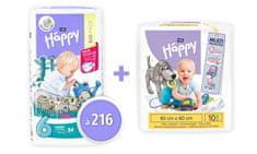 Bella Happy 6 Junior Extra pelenka (16+ kg) 216 db