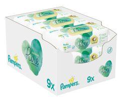Pampers Gyerek Nedves Törlőkendő Coconut Pure 9x 42 db