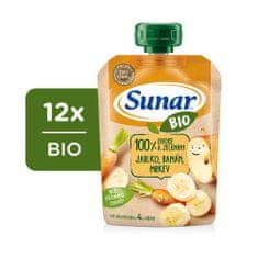 Sunar BIO kapsička Jablko, banán, mrkva 12x 100 g