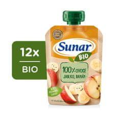 Sunar BIO kapsička Jablko, banán 12x 100 g