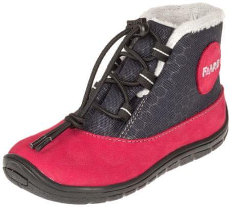 Fare 5543241 bare dekliški zimski čevlji, rdeče-črni, 28