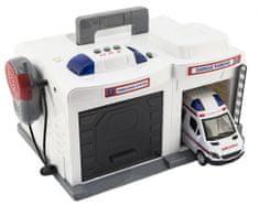 Teddies Garáž + auto ambulance 15 cm