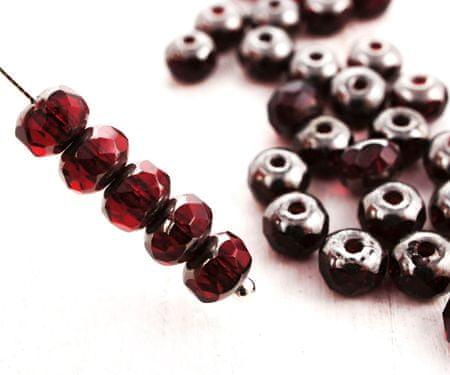 Kraftika 30db kristály sötét rubin vörös tiszta ezüst patina