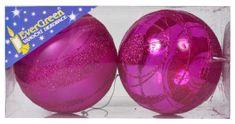 EverGreen Csíkos gömb, glitteres 1 fényes + 1 matt, átmérő 10 cm 1