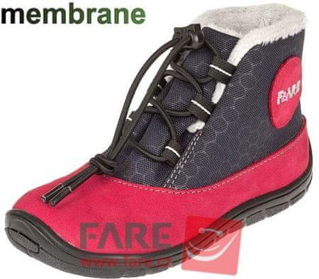 Fare dekliški zimski čevlji 5443241, 24, rdeči/črni