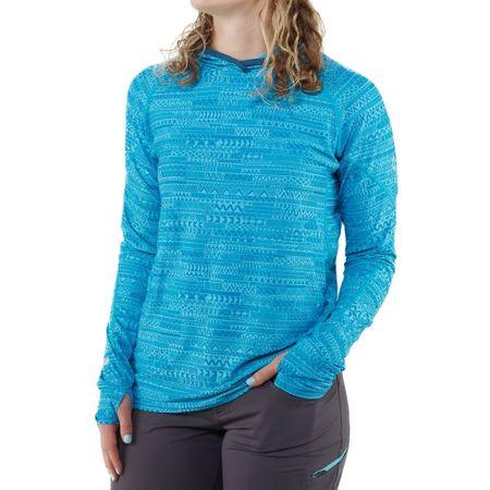 NRS H2Core Silkweight ženska majica s kapuco, cijan, M
