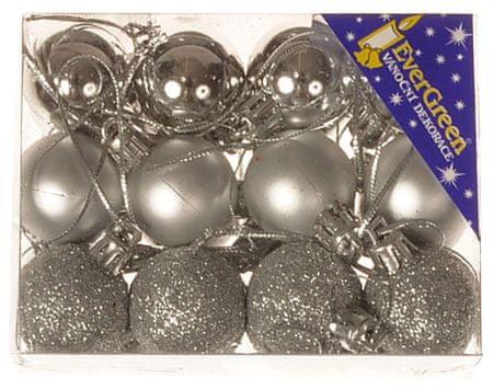 EverGreen ukrasne kuglice, 24 komada, pr. 3 cm2