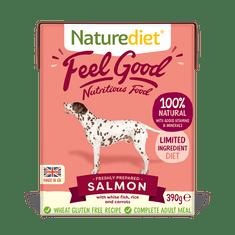 Naturediet Feel Good Salmon pseća hrana, losos, 390 g