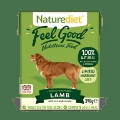 Naturediet Feel Good Lamb pseća hrana, janjetina sa povrćem i rižom, 390 g