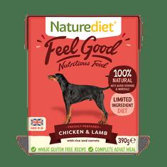 Naturediet NatureDiet Feel Good Chicken&Lamb pseća hrana, janjetina i piletina, 390 g