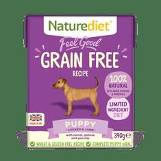 Naturediet Feel Good Grain Free Puppy hrana za štene, 390 g