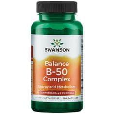 Swanson Vitamins Vitamín B-50 100 kapslí