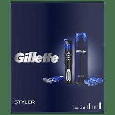Gillette Ajándékcsomagolás Többfunkciós Styler + Sensitive Borotvagél