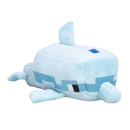 J!nx Minecraft Happy Explorer Dolphin plišana igračka, 20 cm