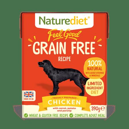 Naturediet Feel Good Grain Free Chicken pseća hrana, 390 g