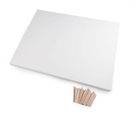 Kraftika 1db fehér fehér feszített vászon 30x40 cm, papír