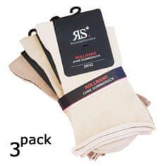 RS Dámské zdravotní hladké ponožky bez gumiček a lemu 34159 3-pack
