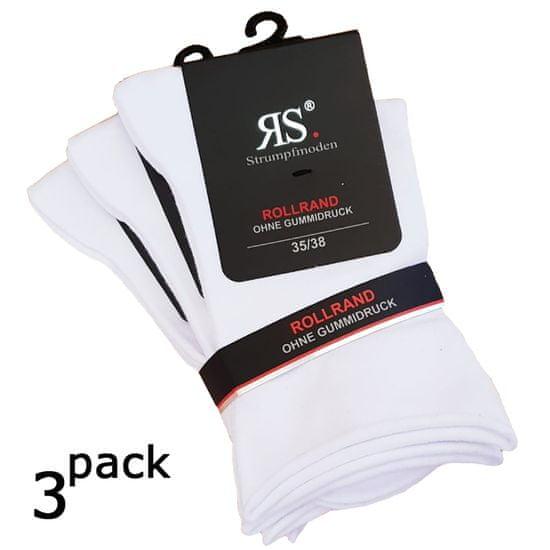 RS Dámské zdravotní hladké ponožky bez gumiček a lemu 34159 3-pack, bílá, 39-42