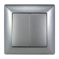 E2 elektro Visage2 Vypínač sériový ř.5 stříbrná