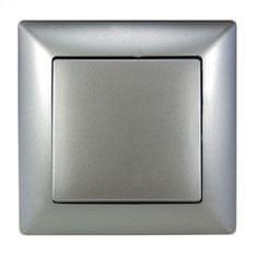 E2 elektro Visage2 Vypínač universální ř.6 stříbrná
