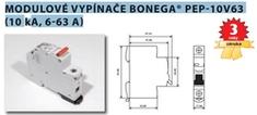 Bonega Vypínač modulární na DIN lištu Bonega 63A 3P třímodulový PEP 10V63