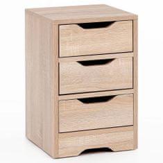 Bruxxi Noční stolek Jery, 49 cm, dub