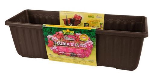 Plastia Samozavlažovacie truhlík FLORIA SIESTA 40 cm - Čokoláda
