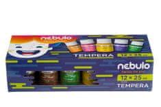 NEBULO Temperové barvy, 12ks, 25 ml