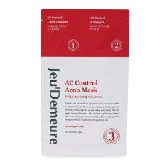Jeu´Demeure AC Control pleťová textilní maska s čistící emulzí a ochranným gelem 2 ML + 2 ML + 25 ML (1 ks)