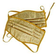 Babys Ochranná polomaska s 3 vrstvá, zlatá, velká, 2ks