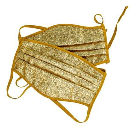 Babys Półmaska ochronna z 3 warstwami, złota, duża, 2 szt