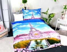 Aaryans Set přikrývka 140 x 200cm + polštář 70 x 90cm /3D Paříž Eiffelova věž