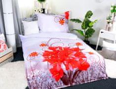 Aaryans Set přikrývka 140 x 200cm + polštář 70 x 90cm /3D Květy